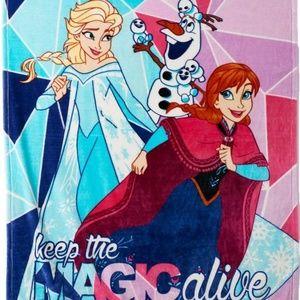 NEW!Disney Frozen Keep The Magic Alive plush throw